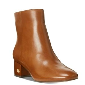 🆕️Ralph Lauren Whisky Leather Ankle Booties